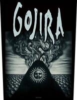 OFFICIAL LICENSED - GOJIRA - MAGMA SEW ON BACK PATCH METAL