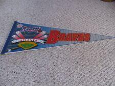 VINTAGE WINCRAFT ATLANTA BRAVES BASEBALL DIAMOND FULL SIZE PENNANT  MLB