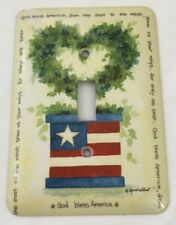 God Bless America Metal Light Switch Cover Plate Cover Patriotic American