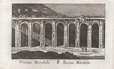 PISCINA MIRABILE MIRABILIS NAPOLI - Incisione Originale Mariano Vasi 1821 Naples