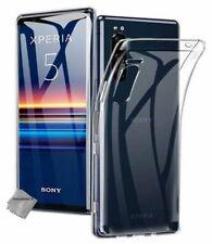 Housse etui coque silicone gel fine Sony Xperia 5 + film ecran - TRANSPARENT TPU