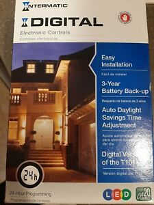 New Intermatic Digital Electronic Controls 20A 24-Hour Programmable Switch DT101