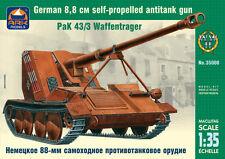 ARK MODELS 35008 GERMAN 8.8CM  SELF-PROPELLED ANTITANK GUN PAK 43/3 WAFFENTRAGER