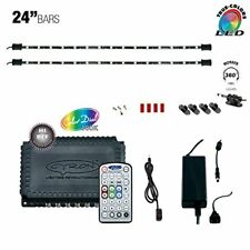 "LED MULTICOLOR RGB TV Home Cabinet Counter Accent Lighting Kit 2 x 24"" Light Bar"