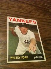1964 Topps Whitey Ford #380 Baseball Card VG Condition HOF LEGEND Vintage NICE