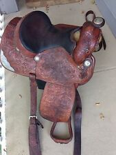 "Handsome Billy Cook 16"" Silver Western Show Saddle Greenville TX"