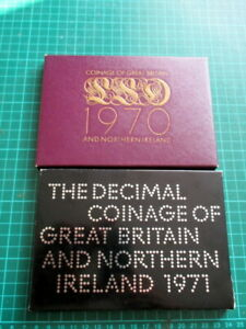 1970 and 1971 Coinage of GB & N.Ireland Proof sets.