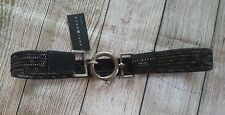 Suzi Roher Brown Leather Woven Belt Size Large Plus Womens NWT