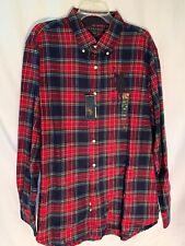 US Polo Assn. Red & Blue Plaid Sz. XL Long Sleeve Button Up Shirt
