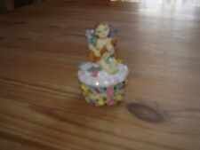 """Lovely Regency Fine Arts """"The Tooth Fairy"""" Trinket Pot Boxed (Vgc)"""