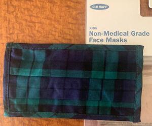 Old Navy Kids Unisex Plaid Face Mask