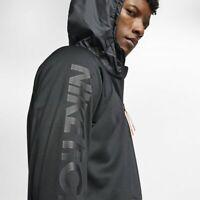 Nike FC Therma Quarter Zip Soccer Hoodie Jacket Black Large