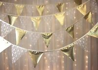 Ivory Lace & gold Bunting - 5 Metres - Golden Wedding Anniversary