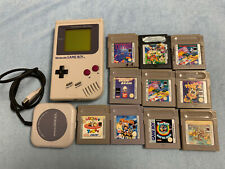 Nintendo Game Boy Classic DMG 01 + 10 Spiele, 4 Player Adapter, Mario Tetris usw