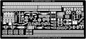White Ensign Models 1/350 Castle Class Corvette Photo-etched parts