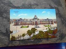 AK Nürnberg Bahnhof 1914 gelaufen koloriert Hauptbahnhof Ansichtskarte Postkarte