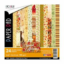 "Ciao Bella The Sound of Autumn 6x6"" Paper Pad  Motivblock Herbst 15x15 cm 24 T."