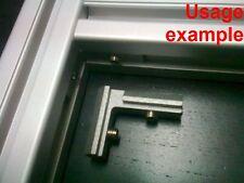 Aluminum T-slot profile 90L deg inside corner connector 30x30-8mm, 8-set