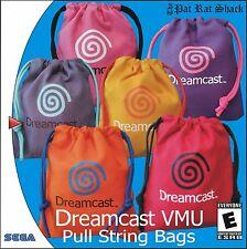 Sega Dreamcast pull string canvas VMU bags