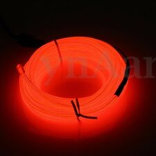 Flexible 1/2/3/4/5/10/20M LED Flash Neon Light Glow EL Strip Tube Wire Rope Car