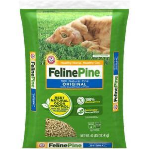 Cat Litter Non Clumping Pet Toilet Odor Remover Pine Pellets Deodorizer 40LB