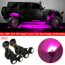 4pcs Pink LED Rock Light for JEEP ATV Off-Road Truck Trail Rig Fender Underbody