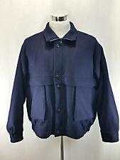 GANT Men's Thick Wool Car Jacket Size XL Extra Large Blue Winter
