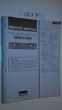 Sansui d-70cw service manual original repair book stereo tape deck player