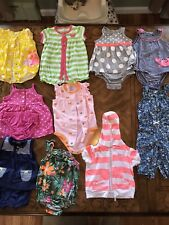 Three Month Girls Dresses, Rompers and Hoodie- All Carters- 10 Outfits in All