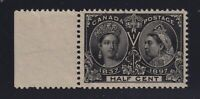 Canada Sc #50 (1897) 1/2c black Diamond Jubilee Mint VF H