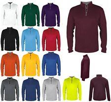 Men'S Long Sleeve, Lightweight, Performance, 1/4 Contrast Zip Pullover, Xs-4Xl