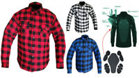 Motorcycle Flannel Lumberjack Shirt Lined with DuPont™ KEVLAR® & CE armour