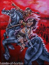 """NEPHILIM"" General-commander 500 years war. Alien Art Acrylic painting. RARE!"