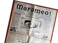 gx 07 Trieste MARAMEO! - Giornale politico satirico pupazzettato 23 ottobre 1936