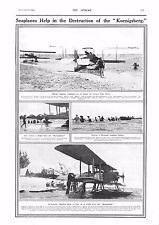 "1915 ANTIQUE PRINT - WW1- SEAPLANES HELP IN DESTRUCTION OF ""KOENIGSBERG"""