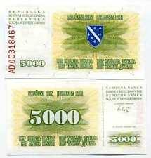 Bosnie - Bosnia billet neuf de 5000 dinara pick 16 UNC