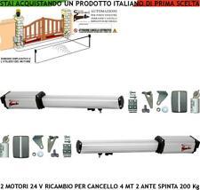 2 MOTORI 24 V CORSA 300 MM CANCELLO ELETTRICO RICAMBI SIMILE FADINI BFT FAAC VDS
