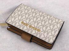 Michael Kors Jet Set Travel Vanilla Acorn Signature Bifold Wallet Small MK's New