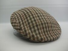 Brooks 7 Fitted Flat Cap Vintage Brown Checkered Hat Made England