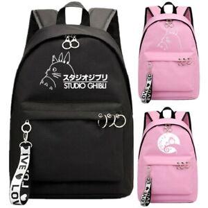 My Neighbor Totoro Backpack School Book Bags Mochila Anime Travel Bag