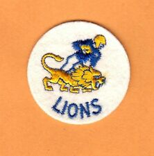 1950s OLD NFL LOGO 2 inch PATCH DETROIT LIONS UNSOLD CONCESSIONS STOCK