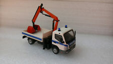 Polizei Berlin BePo Ehu 2.TEE LKW Mitsubishi Fuso Canter / Pritsche u. Ladekran