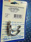 "2 PACK Sea-Dog Line 671501-1 Chrome Brass Coat Hook 1 9/16"""