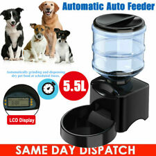 5.5L Automatic Pet Feeder Dog Cat Programmable Food Bowl Timed Auto Dispenser