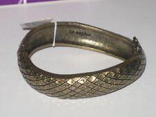 - Antique Gold -Rv $56 Stylish Nwt Lia Sophia Sidewinder Bangle Bracelet