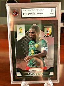2014 Panini Prizm World Cup BASE #40 Samuel Eto'o Cameroon KSA 9 Mint