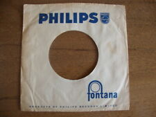 PHILIPS ORIGINAL USED COMPANY RECORD SLEEVE 45RPM 7 INCH  VG