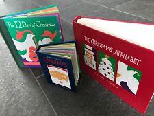 The 12 Days of Christmas Christmas Alphabet 3 pop up book lot By Robert Sabud