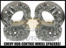 4X CHEVY TRUCK HUB CENTRIC 6X5.5 WHEEL SPACERS 2 INCH THICK | 14X1.5 STUDS