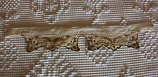 Antique Embroidered Victorian Era Linen Collar Clothing Trim